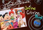 fred barney coloring flintstones arcade