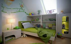 Green Bedroom Wall Designs Charming Bedroom Design With Nice Looking Wall Decal And Green Bed
