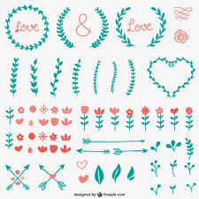 simple calligraphic ornaments vector free
