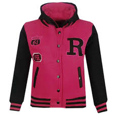 kids girls boys baseball r fashion hooded jacket varsity hoodie