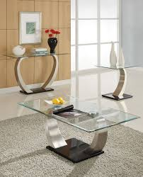 Glass Modern Coffee Table Sets Glass And Chrome Coffee Table Sets Best Gallery Of Tables Furniture