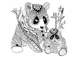 free panda bear coloring pages sheets baby adults baby panda