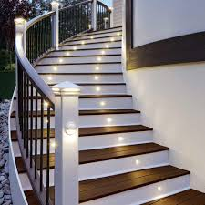 small yellow color stair lighting