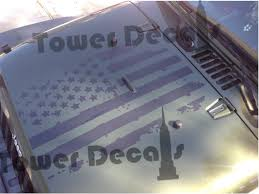 jeep american flag distressed american flag hood decal fits jeep wranglers