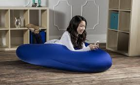 oversized bean bag chairs in blue cozy oversized bean bag chairs