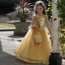 gold sequin ballgown bridesmaid party dress