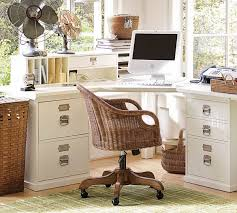 white wood desk with drawers corner desk functional and space saving ideas for the home office