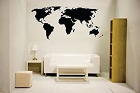 Wall Decor Stickers by Newclew Nc Mp 1 World Map Wall Decal Vinyl Sticker Home Decor