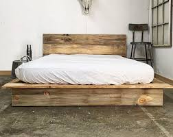 King Wood Bed Frame Wood Bed Frame Etsy