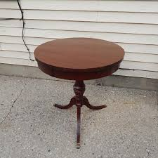 drum table for sale find more lovely antique mersman drum table with brass feet 23 5