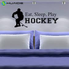 online get cheap gym quote wall aliexpress alibaba group eat sleep play hockey wall decal teen youth boy bedroom decor gym sports art