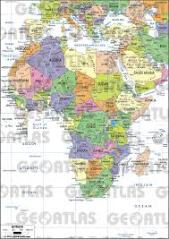 Physical Africa Map by Geoatlas Globes Africa Map City Illustrator Fully Modifiable