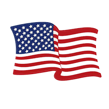 Flags And More Left Hand Waving American Flag Decal