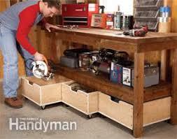 add a drawer under a table diy workbench upgrades family handyman