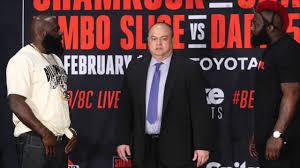 bellator heavyweights kimbo slice and dada 5000 throw verbal blows