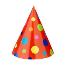 birthday hats multicolored dot cone hats at birthday in a box polyvore