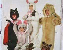 Halloween Costumes Sewing Patterns Toddler Cat Costume Etsy