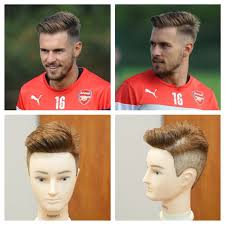soccer haircut steps aaron ramsey 2014 haircut tutorial thesalonguy youtube