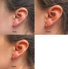 loop earrings mini hoop earrings rainbow niobium with silver unique