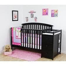black nursery furniture convertible crib baby changing table