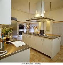 kitchen island large extractor fan stock photos u0026 kitchen island