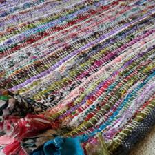 Rag Area Rug Rag Rug Mat Chindi Colorful Area Rugs From Yourgreateststory On