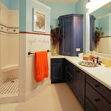 Vinyl Walls For Bathrooms Bathroom Vinyl Wall Stickers At Shower Door In Clear Glass