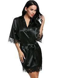 kimono robe de chambre zearo femme robe de chambre nuisette satin dentelle