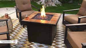 uniflame ceramic tile propane fire pit slate product review