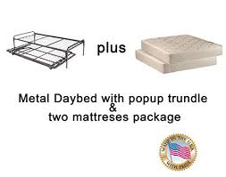 Daybed With Mattress Included Amazon Com Twin Size Metal Day Bed Daybed Frame U0026 Pop Up