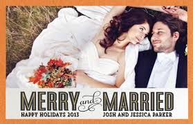 married christmas cards christmas card just married holliday decorations