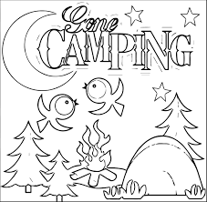 printable coloring pages camping