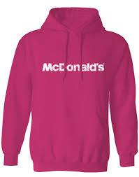 mcdonald u0027s pink event hooded sweatshirt smilemakers