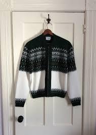 vintage 1950 u0027s mens cardigan zip up sweater size medium indian