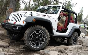white jeep 4 door rubicon4wheeler 2012