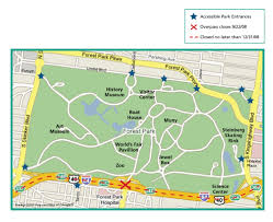 Map St Louis Forest Park St Louis Map N Skinker Amp Forest Park Parkway St