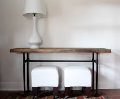 Diy Pipe Desk by Diy Black Pipe Console Table Handmaidtales
