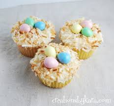 coconut easter eggs coconut easter nest cupcakes that cupcake site