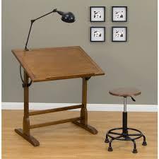 Metal Drafting Table Studio Designs 36 Inch Classic Rustic Oak Wood Vintage Drafting
