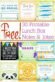 free printable lunch box notes and jokes for all ages lunch box