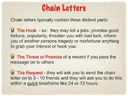 chain letter example the best letter sample