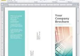 tri fold brochure microsoft word 2010 how to create a brochure