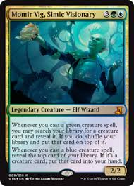 momir vig simic visionary from the vault lore gatherer