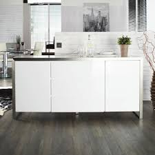 steel frame gloss sideboard white dwell