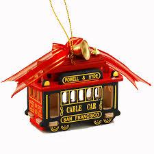 san francisco br cable car ornament