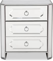 Mirror Chest Of Drawers Harlow Bedside Chest Mirrored Value City Furniture