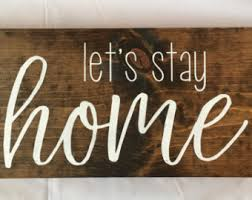 Home Decor Wooden Signs Wood Home Sign Etsy