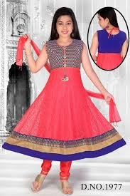 Blue And Red Color Combination by Pink And Blue Color Combination Girls Anarkali
