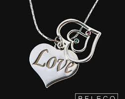 Customized Heart Necklace Heart Name Necklace