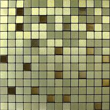 Stainless Steel Mosaic Tile Backsplash by Tile Backsplash Kitchen Gold Stainless Steel Tiles Square Metallic